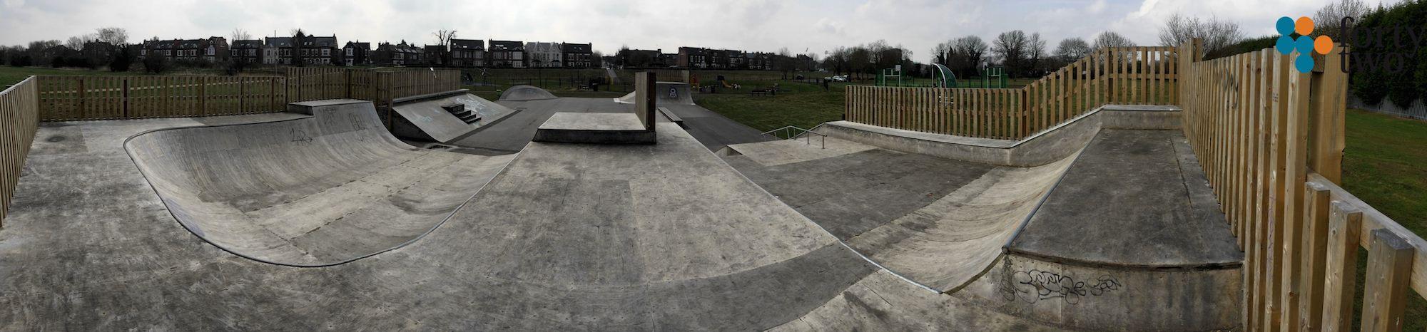 Lady Bay Skatepark Nottingham Panarama 2