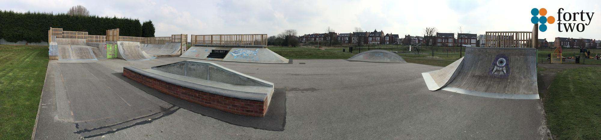 Lady Bay Skatepark Nottingham Panarama
