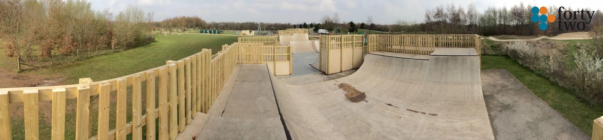 Rushcliffe Country Park Skatepark Nottingham Panarama 2