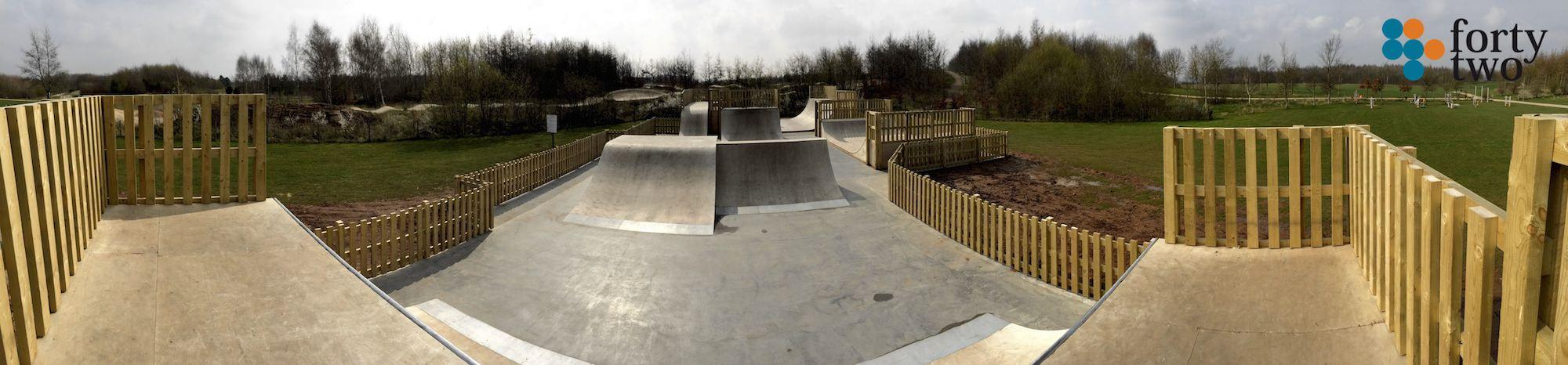 Rushcliffe Country Park Skatepark Nottingham Panarama