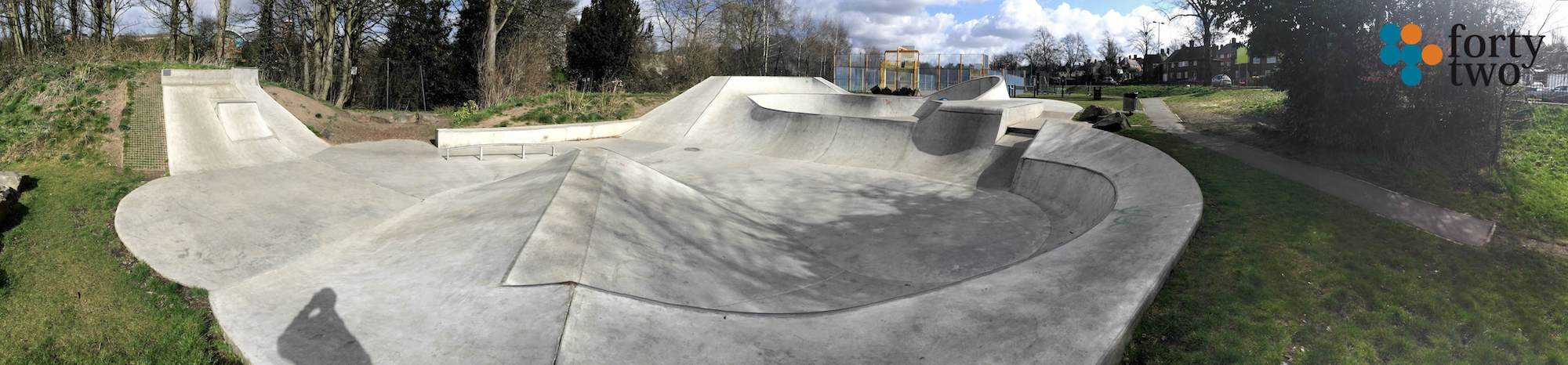 Valley Road Skatepark Nottingham Panarama