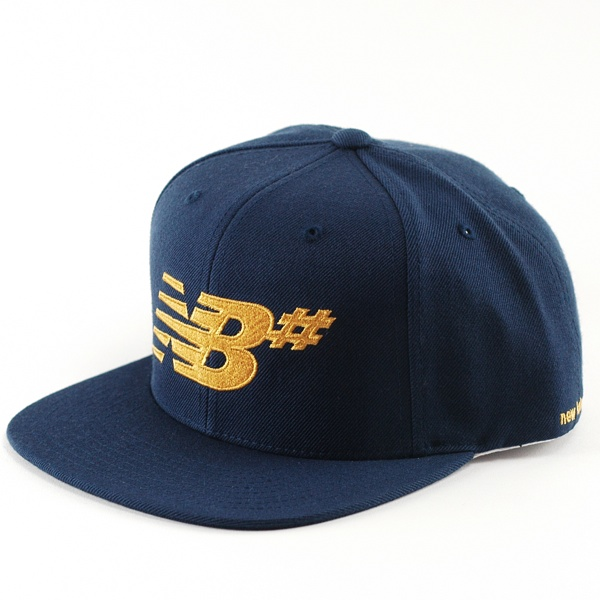 new balance numeric icon snapback cap estate blue gold. Black Bedroom Furniture Sets. Home Design Ideas