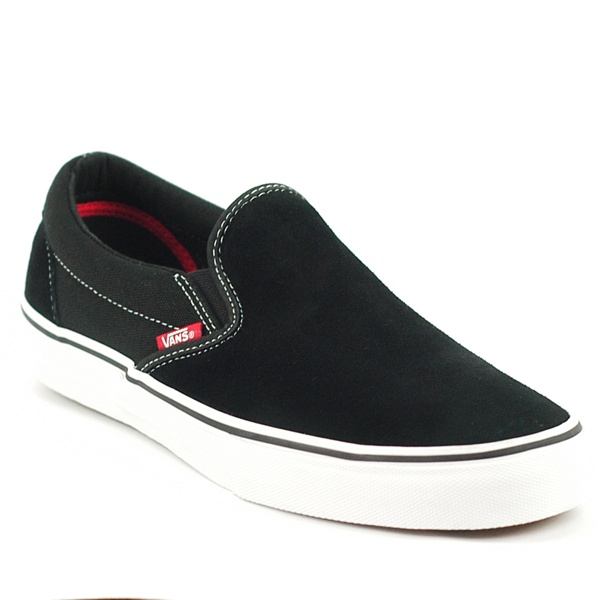 Vans Slip On Pro Black White Red