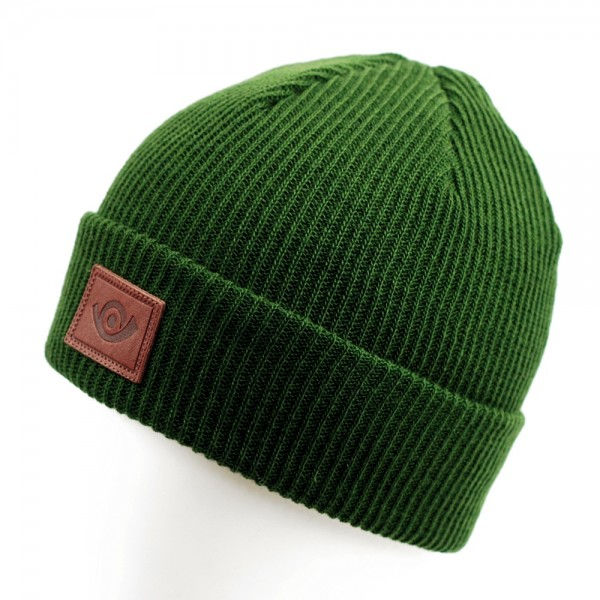 Post Classic V3 Horn Beanie Forest Green
