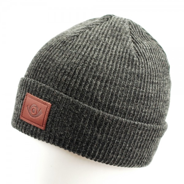 post-classic-beanie-v3-horn-charcoal-Heather