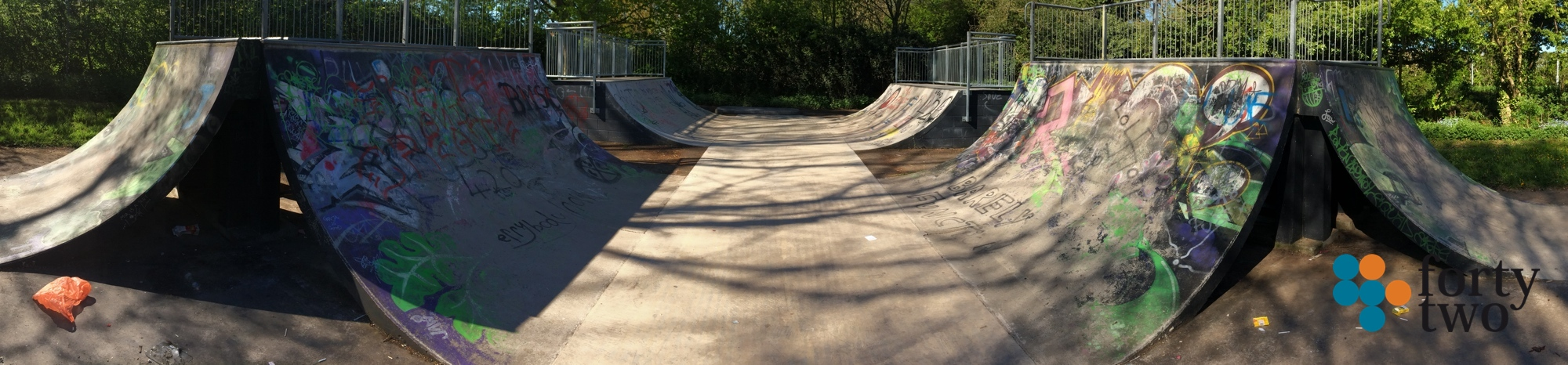 Keyworth skateparks concrete mini ramp.
