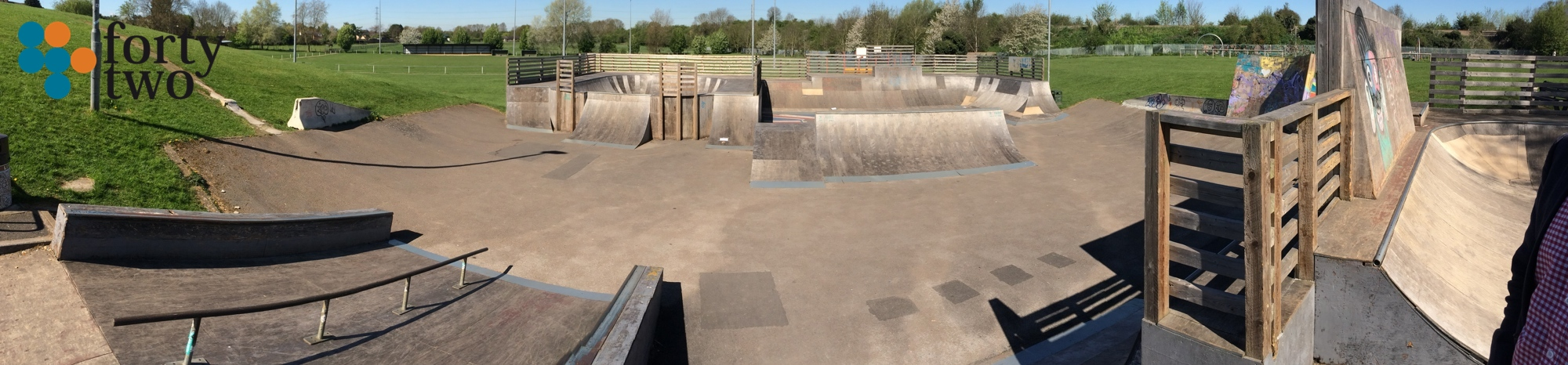 Racliffe skatepark in Nottingham view of Street area