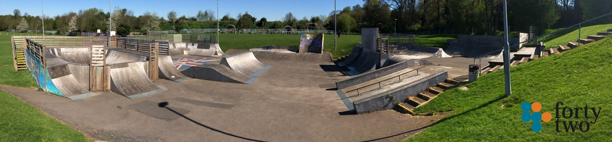 Radcliffe on Trent skatepark view two