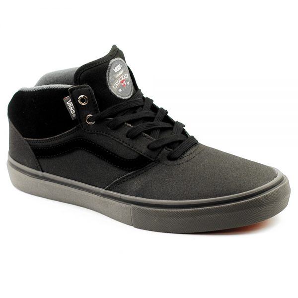 New Vans Gilbert Crockett Mid Tuf Black Grey Suede UK