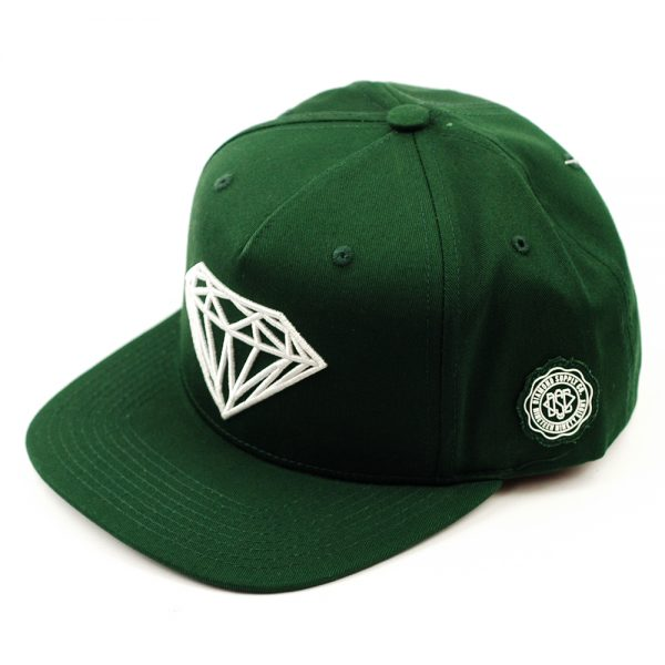 diamond-brilliant-snapback-cap-green