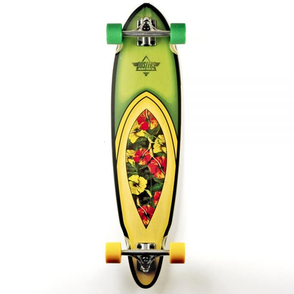Duster longboards UK Duster fin complete longboard 35 inches long with hawaiian graphic