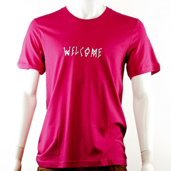 welcome-scrawl-tee-pink-white