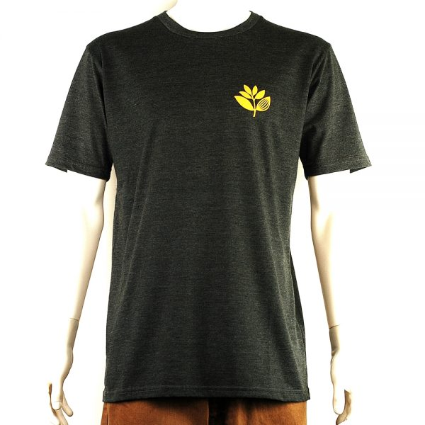 Magenta Plant Tee Dark Heather Front