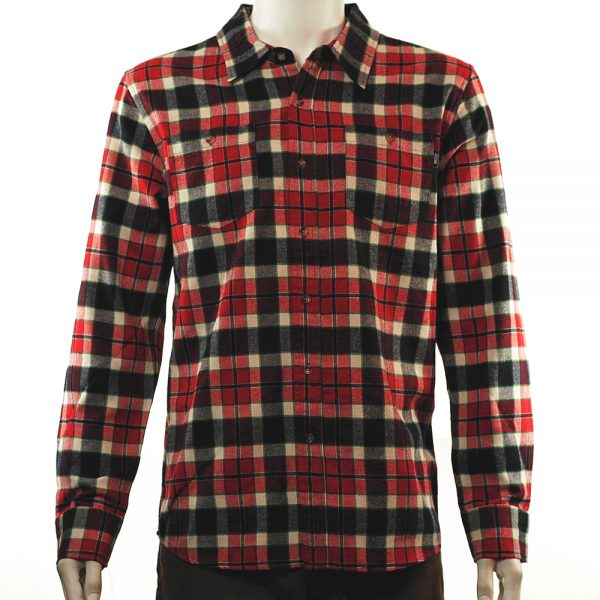 Grizzly Plaid Flannel Shirt Red
