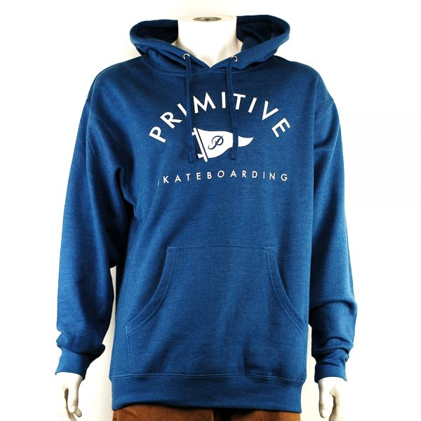 Primitive Arch Pennant Pullover Hood Royal Heather