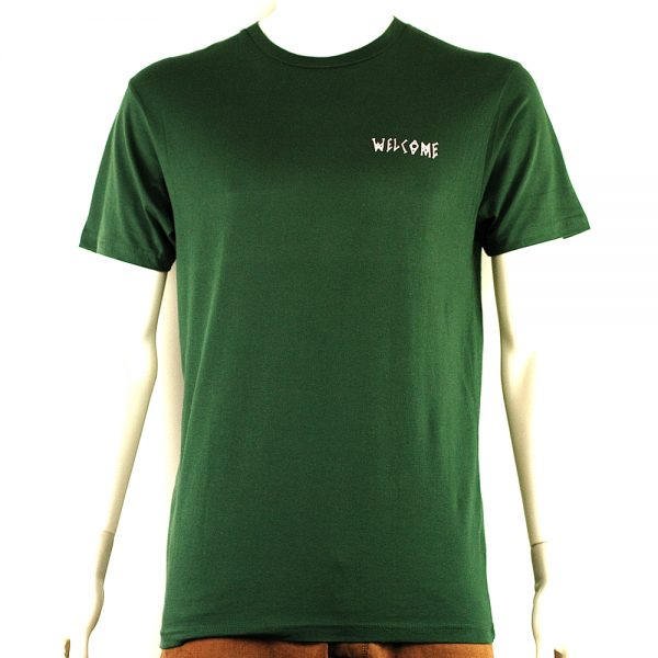 Welcome Latin Talisman Tee Forest-Pink Front
