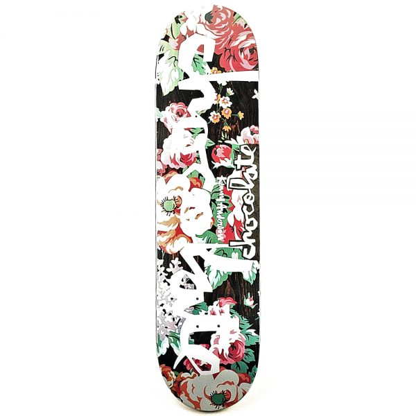 Chocolate Kenny Anderson Floral Chunk Deck 8.125