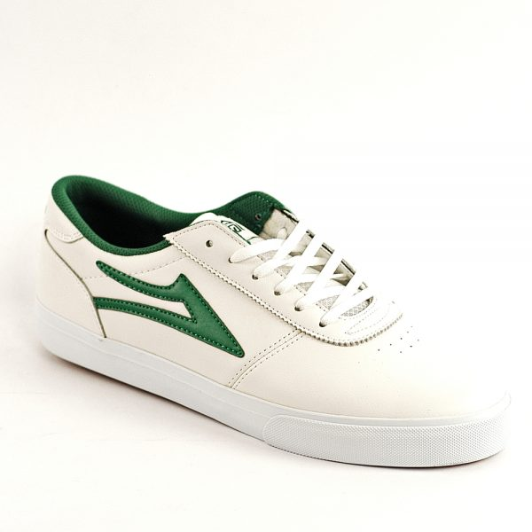 Lakai Manchester White-Green Leather Front