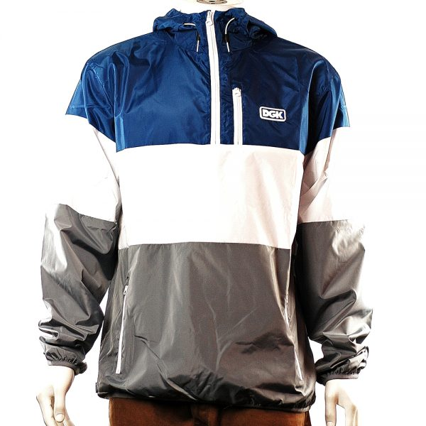 DGK Tri Windbreaker Jacket Navy New Main