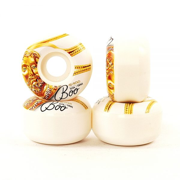 Gold White Gold Wheels Boo 51mm