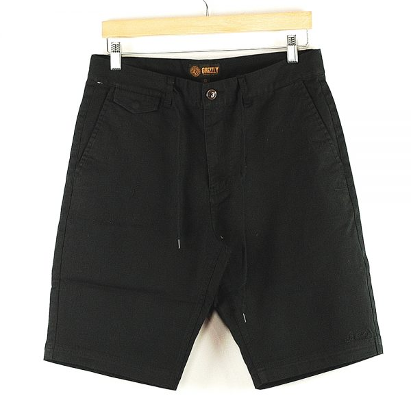 Grizzly Refuge Chino Shorts Black Main