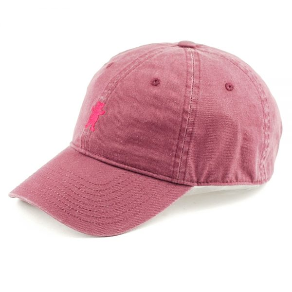 grizzly-mini-bear-6-panel-strapback-cap-berry