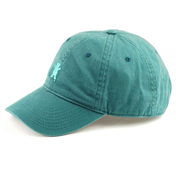 grizzly-mini-bear-6-panel-strapback-cap-teal