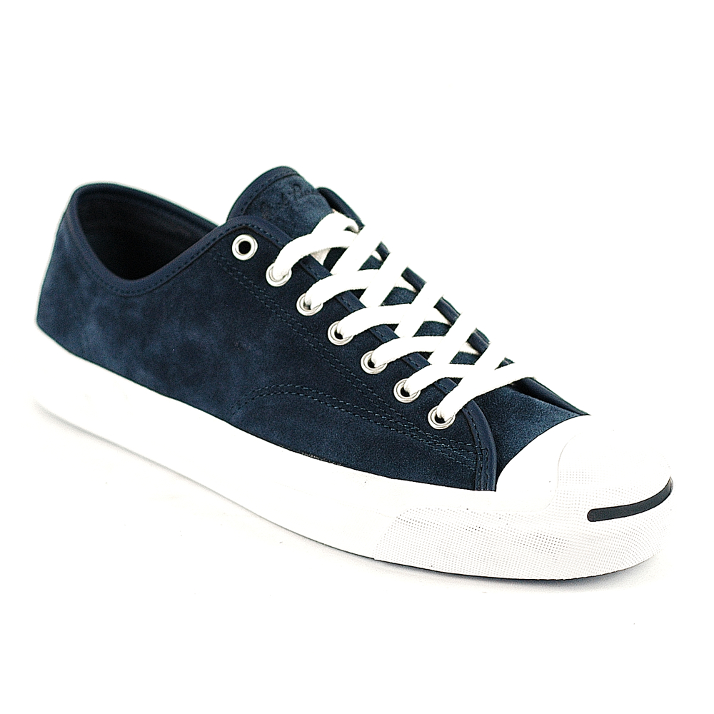 Converse Womens Black White White Black Leather Jack Purcell Trainers Sole Vulcanised Sole Unit