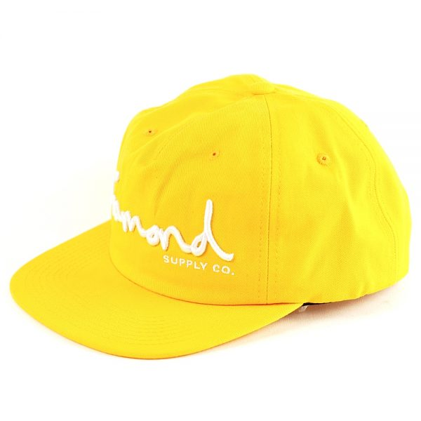 Diamond OG Script Unconstructed Cap Yellow