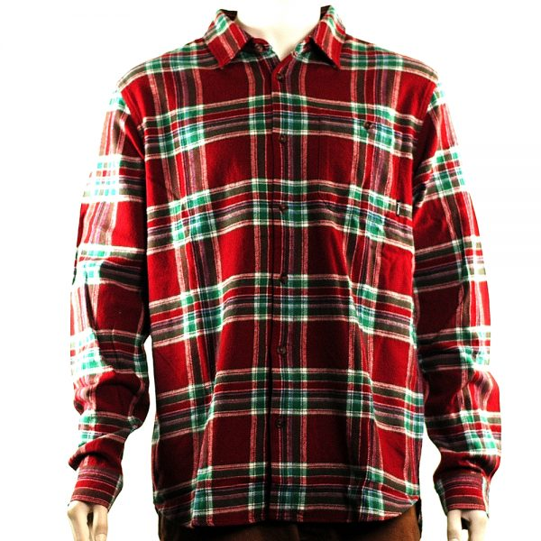 Diamond Supply Flannel Shirt Burgundy