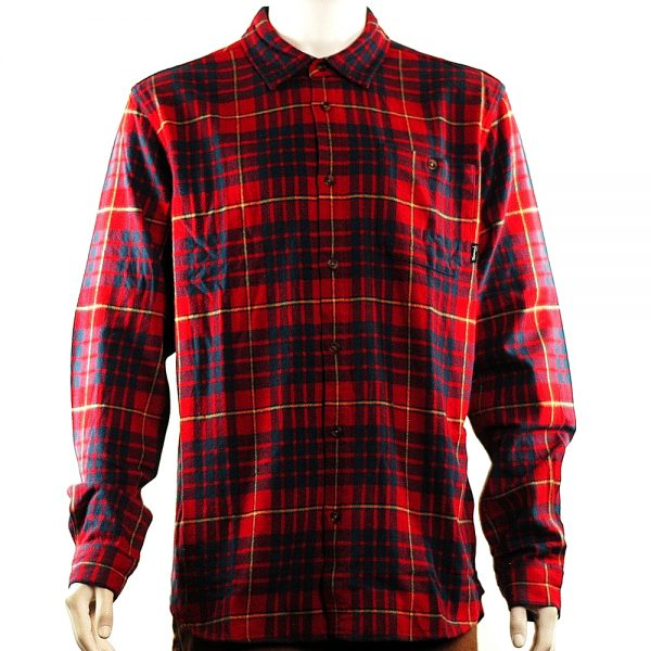 Diamond Supply Flannel Shirt Red