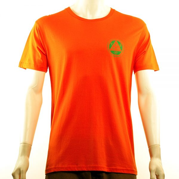 Welcome Sloth Tee Orange-Green Front