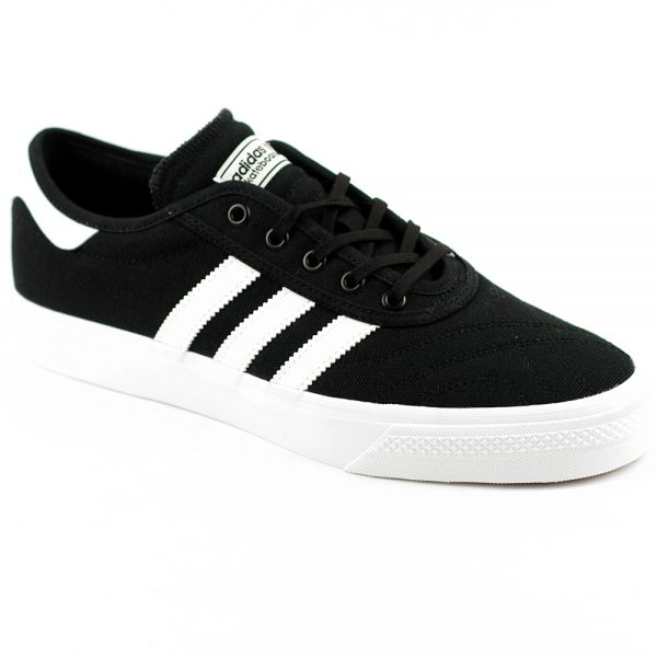 Adidas Adi Ease Canvas Vegan Skate Shoe in Black White