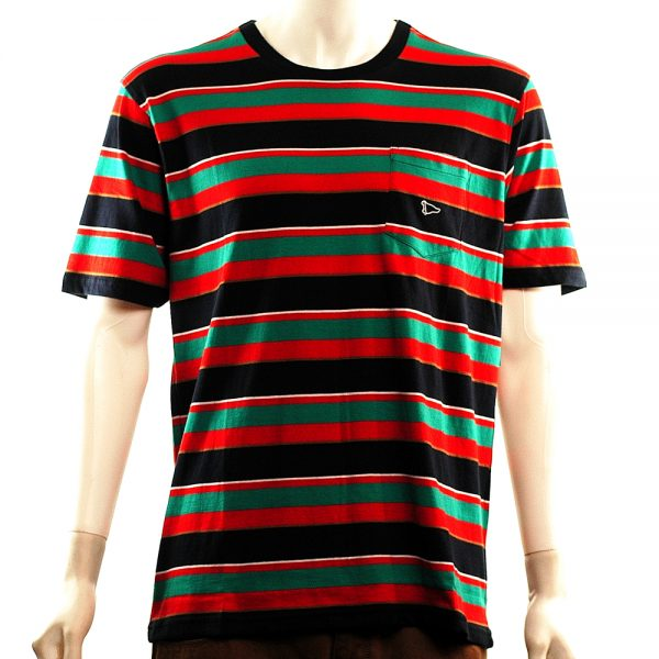 primitive classic stripe s-s pocket tee multi