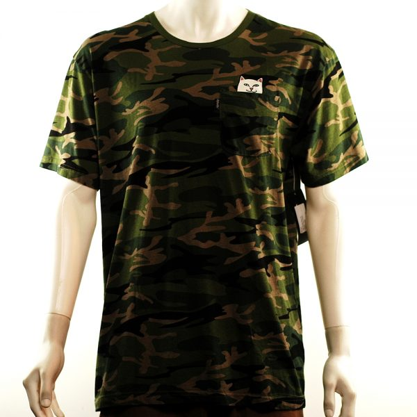 rip n dip nermal pocket tee green camo