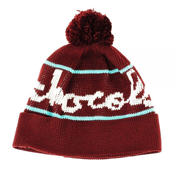 Chocolate Full Chunk Pom Beanie Burgundy