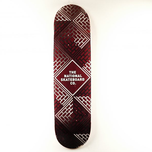 National Skate Co Classic Deck Black Wash Red 8.25
