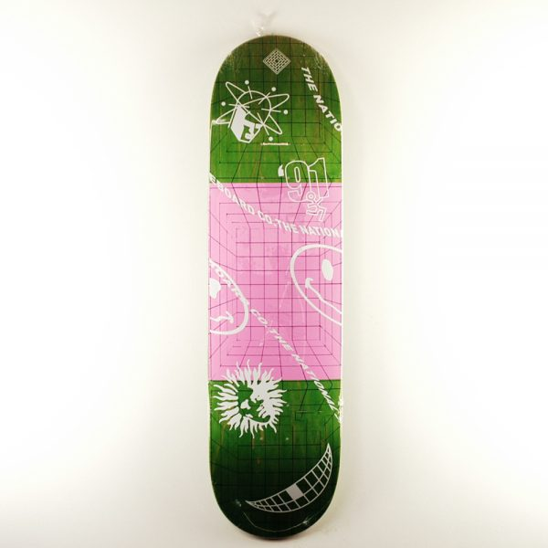 National Skate Co Ravers Deck Green 8.5