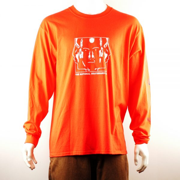 National Skate Co Ravers Longsleeve Tee Black-Orange