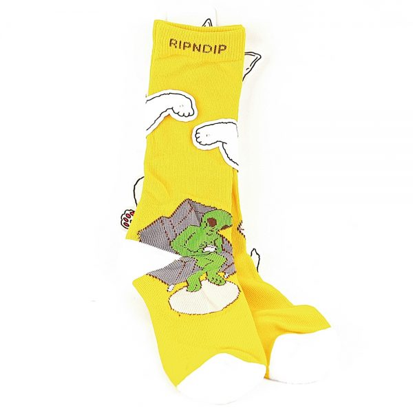 Rip N Dip Theropy Socks Yellow