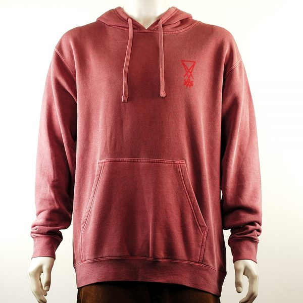 welcome marker pullover hoodie red