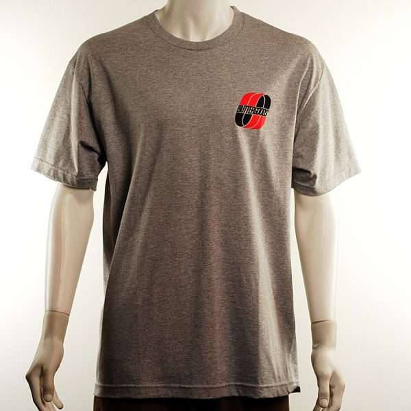 Butter Good United Logo Tee Heather Grey Front