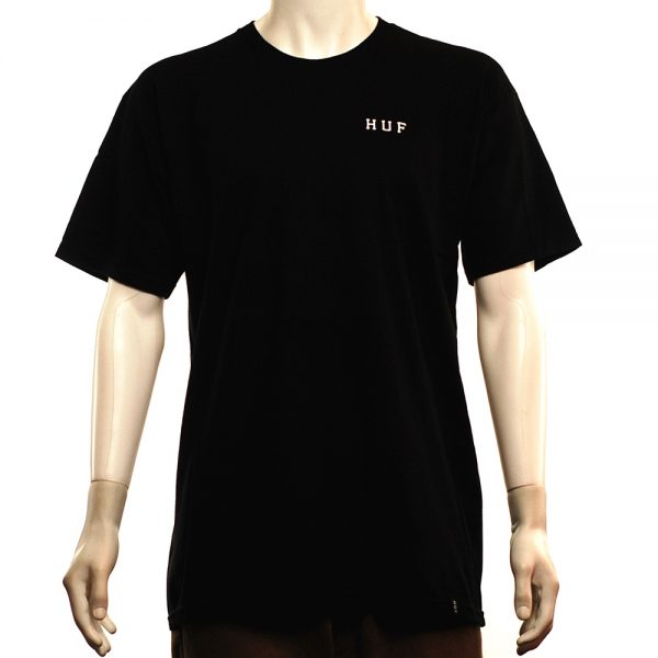 HUF Roses Classic H Tee Black Front