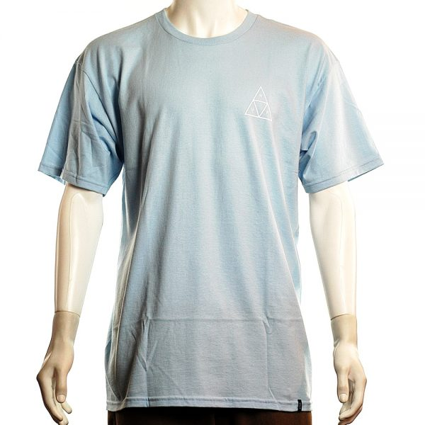 HUF Roses Triple Triangle Tee Powder Blue Front
