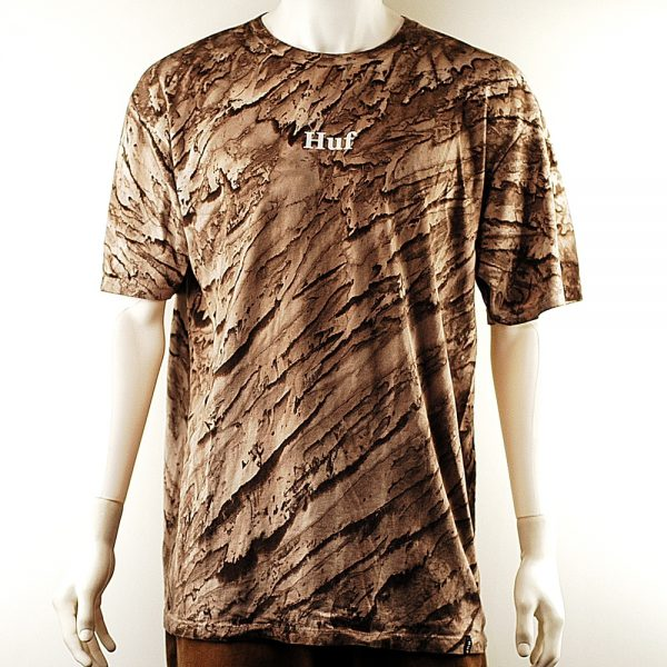HUF Tie Dye Rose Tee Sand Front