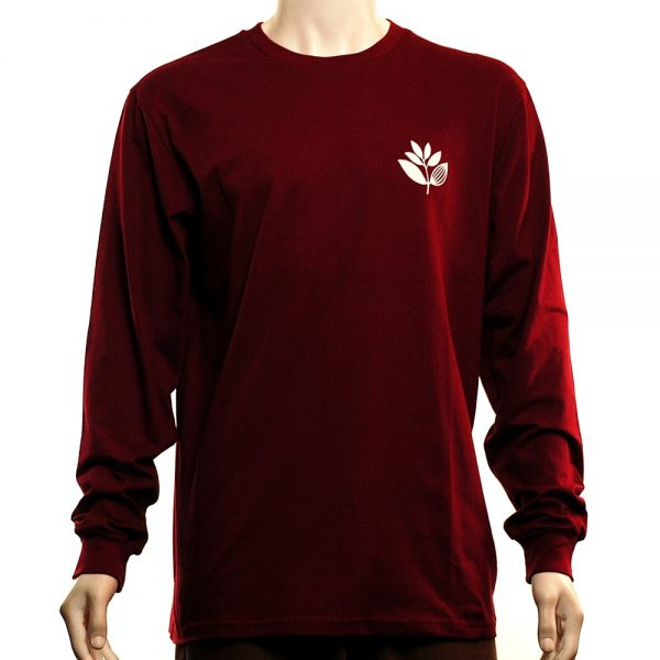 Magenta Classic L-S Tee Burgundy Front