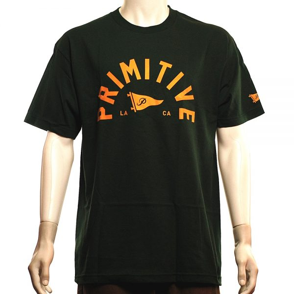 Primitive Big Arch Pennant Tee Forest Green