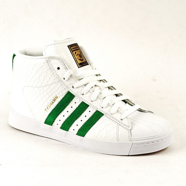 Adidas Pro Model Vulc White-Green-White Single