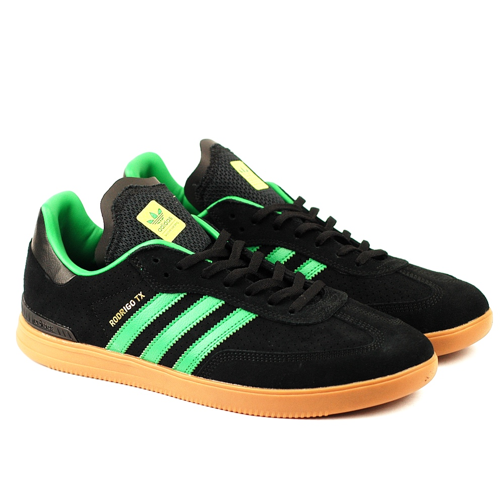 e95b28545 Adidas Originals - Samba Suede and Leather Sneakers - green