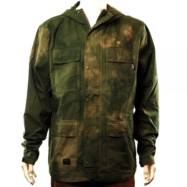 Grizzly Forester Dyed Camo Jacket Olive
